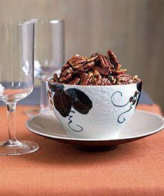 Rosemary Pecans sounds like a great party snack. or just snack! Thanksgiving Recipes, Holiday Recipes, Great Recipes, Favorite Recipes, Christmas Recipes, Party Recipes, Thanksgiving Birthday, Recipe Ideas, Quick Appetizers