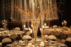Crystal tree centerpieces add glam to your wedding! | Will Pursell Photography | See More: http://www.thebridaldetective.com