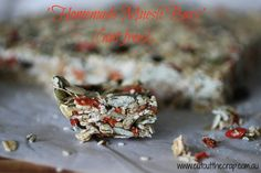 HOMEMADE MUESLI BARS. CUT OUT THE CRAP. Wheat free. Dairy free. Preservative free. Additive free. Nut free. Egg free. Yep, still YUMMY!   http://www.cutoutthecrap.com.au/homemade-muesli-bars/