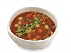 Our #Minestrone #Soup is a hearty #Italian style soup made with #potatoes, #carrots, #celery, kidney #beans and sea shell macaroni #pasta.