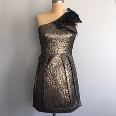 Greylin cocktail dress Gold one shoulder dress. Perfect condition ❤️ Save 10% when you bundle! ❤️ Greylin Dresses One Shoulder