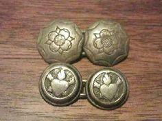 2 pairs of Georgian Period Silver Cufflinks 18th Century