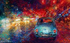 iCanvasART Sweet Glass Taxi Canvas Print by Iris Scott 26 x 26