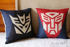Transformer Decorative Pillows  - 18x18 inch - Accent pillow  - Throw Pillo on Etsy, $18.00