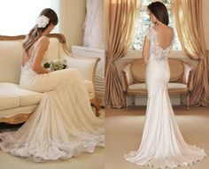 Open back wedding dresses III Bridal Gowns, Wedding Gowns, Lace Wedding, Wedding Bells, Open Back Wedding Dress, Wedding Wishes, Wedding Styles, Wedding Ideas, Wedding Stuff