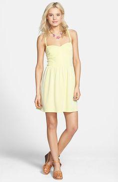 yellow dress nordstrom juniors