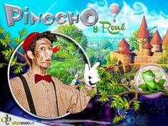 Cartel para el musical Pinocho y René.  Diseño de LoveDesign.