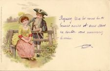 CARTE POSTALE FANTAISIE FOLKLORE COSTUME ENFANTS