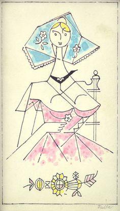 Dievča s kvietkom I. (List z náčrtníka) Ľ. Illustrator, Disney Characters, Fictional Characters, Aurora Sleeping Beauty, Disney Princess, Artist, Painting, Artists, Painting Art