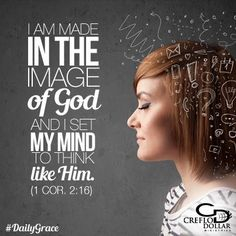 Not for Him to think like us, but for us to set OUR MIND SET TO THINK LIKE HE DOES! Our will must take a back seat... #Creflo Dollar