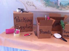 Moving Supplies Buffet, what a brilliant idea! Helps you stay organized and know right where everything you could need is while moving. Moving Supplies, Packing Supplies, Moving Tips, Staying Organized, Packing Tips, Louisiana, Paper Shopping Bag, Buffet, My Design