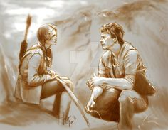 Hunger Games: Katniss and Gale by BlackFeatherz29 on @DeviantArt