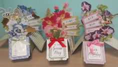 Anna Griffin Inc. Anna Griffin Inc, Anna Griffin Cards, Z Cards, Swing Card, Pop Up Box Cards, Shaker Cards, Flower Boxes, Gift Tags, Birthday Cards