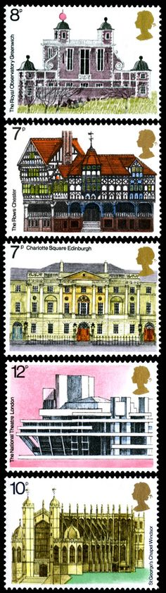 GB 1975 - European Architectural Heritage Year http://rmspecialstamps.com/##stamps