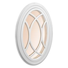 Awsco Oval Replacement White Exterior Window (Rough Opening: X Actual: X