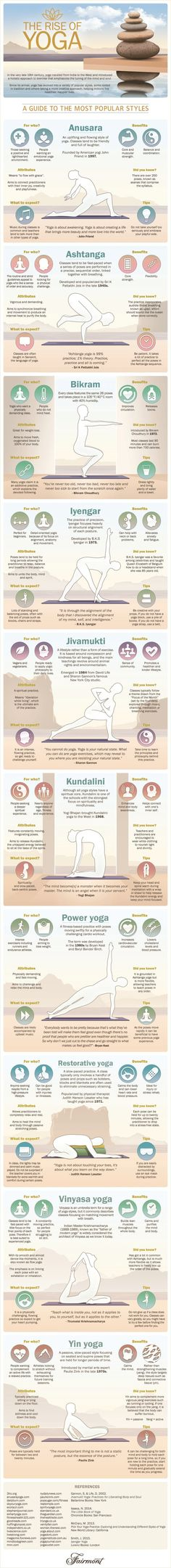 Yoga got your head spinning? A quick guide to which type might be your perfect m… Yoga got your head spinning? A quick guide to which type might be your perfect match. Ashtanga Yoga, Vinyasa Yoga, Kundalini Yoga, Yoga Meditation, Yoga Flow, Bikram Yoga, Types Of Meditation, Iyengar Yoga, Fitness Workouts