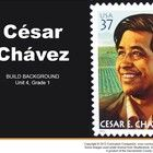 The CA Treasures, Grade 1, Unit 4, César Chávez Common Core Standards (CCS) resource is a teacher resource that supports the Macmillan/McGraw Hill ...