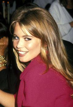 Claudia Schiffer at Bergdorf Goodman, NYC, 1991.