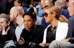 Jay Z & Beyoncè at the Warriors vs OKC game February 6th, 2016