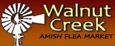 Walnut Creek Amish Flea Market  vendor coupons  1900 Ohio 39, Sugarcreek  330-852-0181  9-5 Th, Fri, & Sat