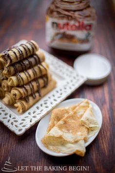 Nutella Stuffed Crepes