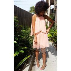 Dresses & Skirts - Cocktail Fashion Salmon Pink Top+Skirt on Poshmark