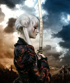 Calm before the storm by *ThE-BlackOrchid on deviantART, Samurai girl. Fantasy Warrior, Warrior Girl, Warrior Princess, Warrior Women, Fantasy Anime, 3d Fantasy, Fantasy Kunst, Samurai Girl, Ronin Samurai