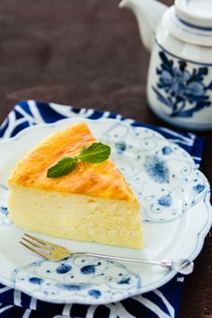 Japanese Cheesecake   JustOneCookbook.com  Soft fluffy Japanese Souffle Cheesecake that simply melts in your mouth, finished with apricot spread.