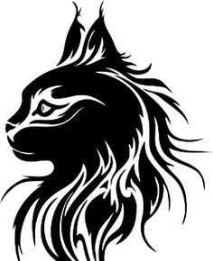 this is a really cool wallsticker of a Maine Coon Cat