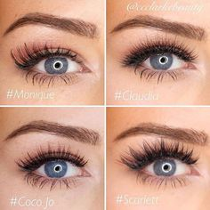 """Which is your favorite @shophudabeauty lashes? @ccclarkebeauty  #hudabeauty"""