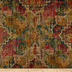 Waverly Pradesh Palace Twill Masala from @fabricdotcom  Screen printed on cotton twill, this versatile lightweight fabric is perfect for window treatments (draperies, valances, curtains and swags), toss pillows, duvet covers, some upholstery and other home decor accents. Colors include cred, blue, green, rust and shades of brown.