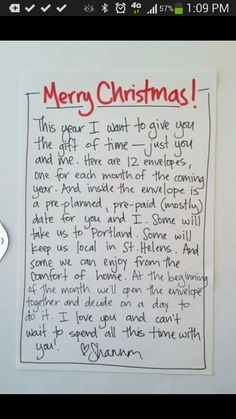 Meaningful Christmas gift