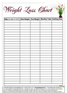 A Free Printable Weight Loss Log That You Can Fold Up And Keep