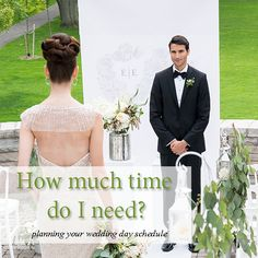 Putting together a wedding day schedule can be a daunting task, but we are here to tell you that it doesn't have to be. Check out our tips on how to time out your day from makeup to bouquet toss!