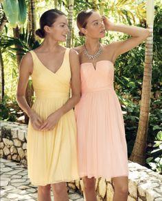 Pastel colors for bridesmaids -- The J.Crew Wedding Event: 25% off gowns, bridesmaid dresses & bridal accessories. #jcrewwedding