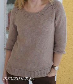 """Пуловер, связанный спицами """"Oversize"""""""