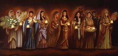 Parables of Jesus Christ The Bride's Girlfriends (or The Ten Virgins) Scripture: Matthew Christian Artwork, Christian Images, Christian Music, Parables Of Jesus, Lds Blogs, Matthew 25, Bride Of Christ, Kingdom Of Heaven, Jesus Pictures