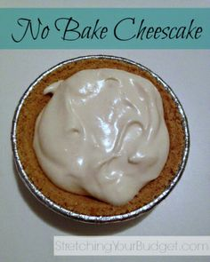 No bake cheesecake - can't wait to make it!