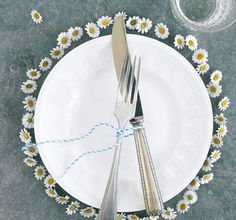 "Wedding Bliss Simple Understated Wedding Nuptials-place Setting|  Wild Flowers- that are"" wild""