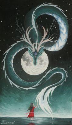 Das Mädchen und der Mond von Saraais auf deviantART 3434