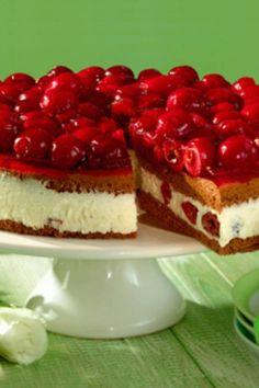 Kirschkuchen mit Mascarpone