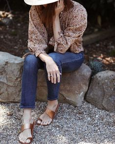 """9266a02ae1f beek on Instagram  """"So many of our favorites in one photo... our Finch  sandal in Rose Gold on the always lovely Samantha of  couldihavethat ..."""