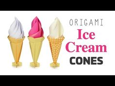 Origami Ice Cream Cone Instructions - Modular - Paper Kawaii