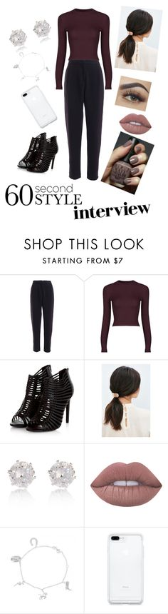 """""""60 Second"""" by cicimitch ❤ liked on Polyvore featuring Urban Outfitters, River Island, OPI, Lime Crime, jobinterview and 60secondstyle"""