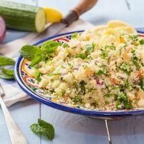 Echt heerlijk fris deze couscous salade.