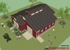 Chicken Co-op Detailed Plans | CS100 - Chicken coop plans - Garden shed plans