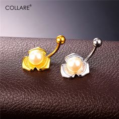 3302e171022 Click to Buy << Collare Simulated Pearl Belly Button Rings For Women Party  Gold/Silver Color Navel Piercing Wholesale Women Body Jewelry DB128  #Affiliate