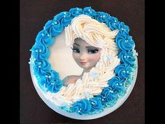 Cake decorating tutorial - how to make elsa buttercream cake - Sugarella Sweets - YouTube