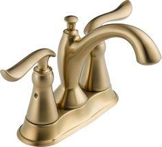 Delta 2594-MPU-DST Linden Centerset Bathroom Faucet with Pop-Up Drain Assembly - Champagne Bronze Faucet Lavatory Double Handle