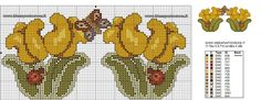 SCHEMI THUN - Idee a Punto Croce Cross Stitch Embroidery, Cross Stitch Patterns, Cross Stitch Boards, Needlework, Projects To Try, Creations, Floral, Crafts, Geisha